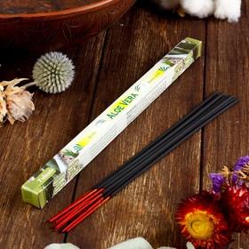 Благовония Sarathi 'Aloe Vera. Алое Вера', 8 палочек в упаковке, четырёхгранник Ош