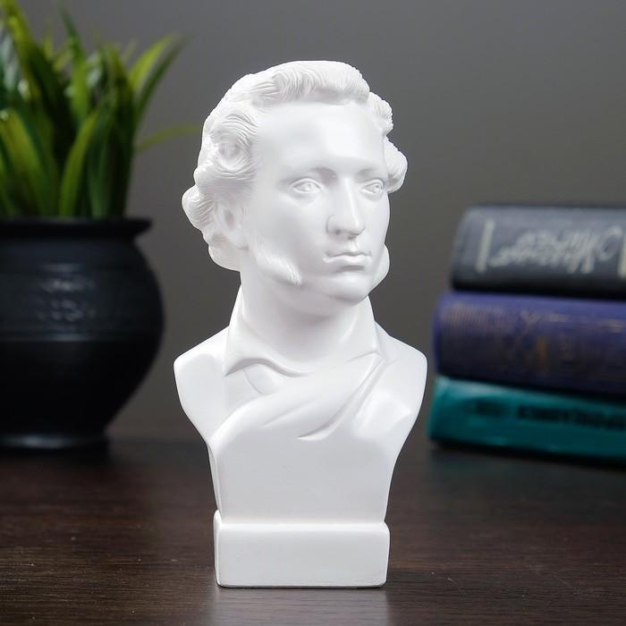 Бюст Пушкин малый белый 5х6х15см