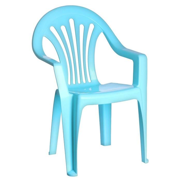 Детский стульчик, высота до сиденья 27,5 см, цвет голубой