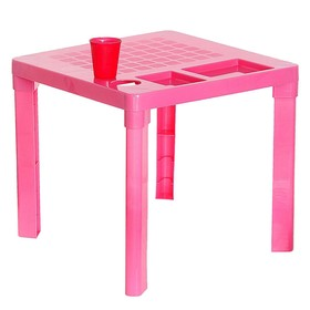 Детский стол с подстаканником, цвет розовый Ош