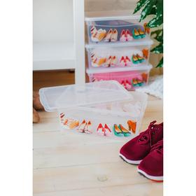 Короб для хранения обуви «Для обуви», 33×12×19 см, цвет прозрачный