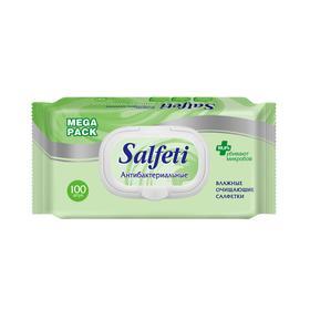 Влажные салфетки Salfeti, антибактериальные, 100 шт.