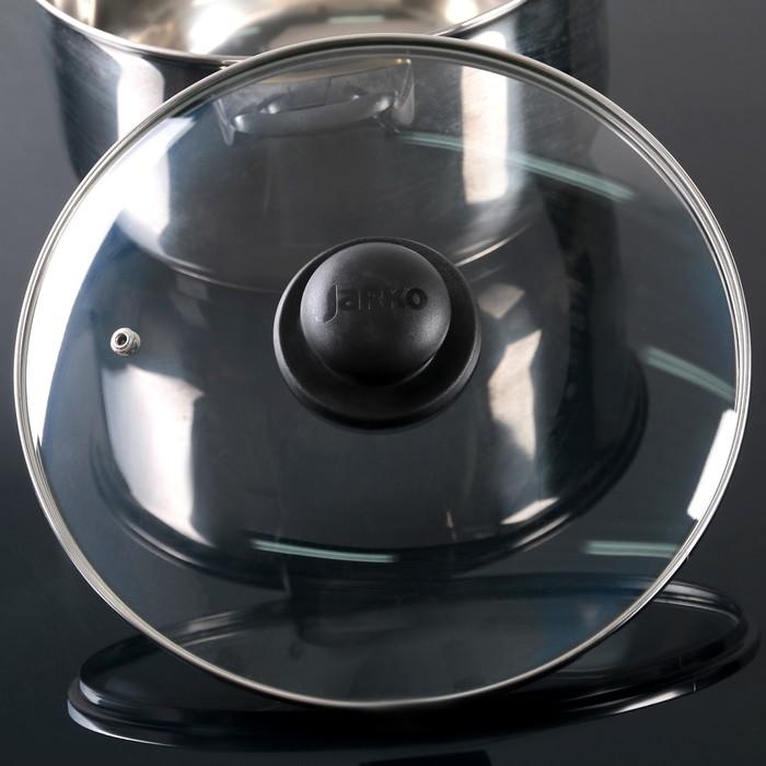 купить Крышка для сковороды и кастрюли стеклянная, d26 см, с пластиковой ручкой