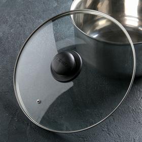 Крышка для сковороды и кастрюли стеклянная, d=28 см, с пластиковой ручкой