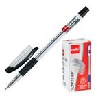 Ручка шариковая Cello SLIMO GRIP 0.7мм, резиновый упор, узел-игла, черный