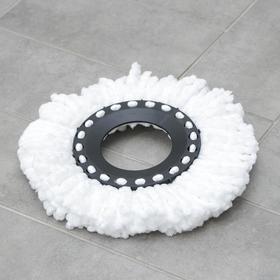 Насадка для швабры с отжимом-центрифугой, комплектующие к набору, длина нитей 10 см, микрофибра, 75 гр, цвет белый Ош