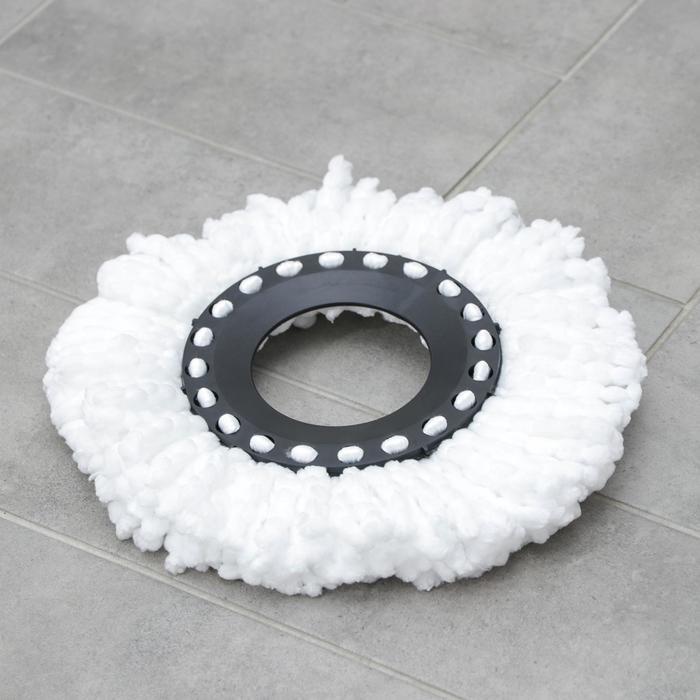 Насадка для швабры с отжимом-центрифугой, длина нитей 10 см, микрофибра, 75 гр, цвет белый