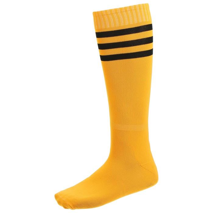 Гетры футбольные, безразмерные, цвет оранжевый