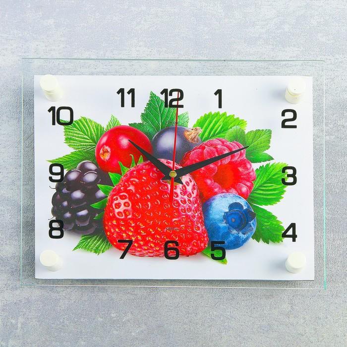Часы настенные, серия Кухня, Ягоды, 20х26 см, микс