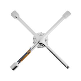 Ключ баллонный крестообразный усиленный TUNDRA, 16 х 350 мм, сатин, 17х19х21 мм, квадрат 1/2' Ош