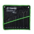 Набор ключей комбинированных TUNDRA basic, сумка, фосфатированный, 10 шт, 6-22 мм