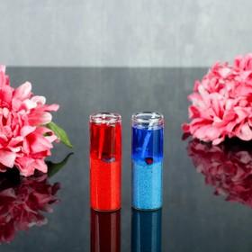 Свеча гелевая (набор 2 шт) 'Побережье', цвет сине-красный Ош