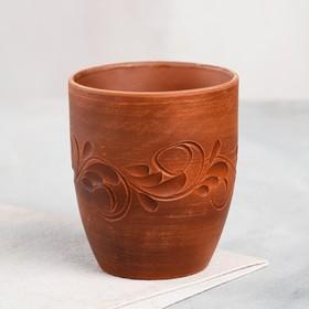 """Стакан """"Катон"""" декор, красная глина, 0,3 л"""