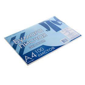 Бумага писчая А4, 100 листов, плотность 50-65 г/м², белизна 92-96%, эконом, в плёнке Ош