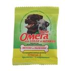 Мультивитаминное лакомство Омега Neo для собак, протеин/L-карнитин, саше 15 табл.