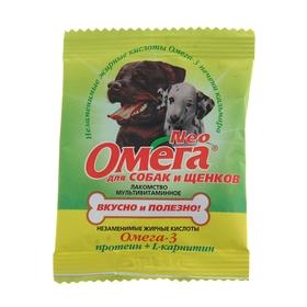 Мультивитаминное лакомство Омега Neo для собак, протеин/L-карнитин, саше 15 табл. Ош