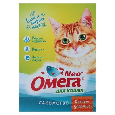 Лакомство Омега Neo для кошек, с морскими водорослями, 90 табл. - Фото 1