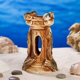 """Декорация для аквариума """"Колонна'', 12 см, микс"""