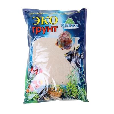Кварцевый песок для аквариумов «Эко грунт», 3,5 кг, фракция 0,3-0,9 мм, белый - Фото 1