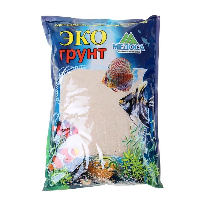 купить Кварцевый песок для аквариумов Эко грунт, 3,5 кг, фракция 0,3-0,9 мм, белый