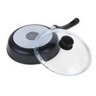 Сковорода «Литая», d=22 см, стеклянная крышка - Фото 3