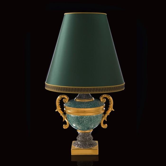 "Лампа ""Гамбия"" черно-зеленая"