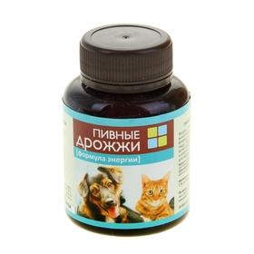 Пивные дрожжи 'Формула энергии'  для кошек и собак, с фосфором, 80 таб Ош