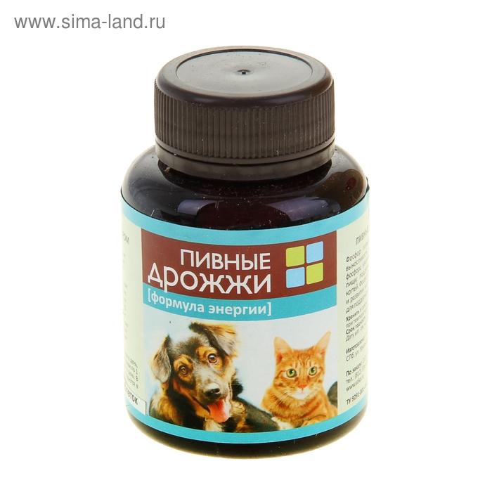 """Пивные дрожжи """"Формула энергии""""  для кошек и собак, с фосфором, 80 таб"""