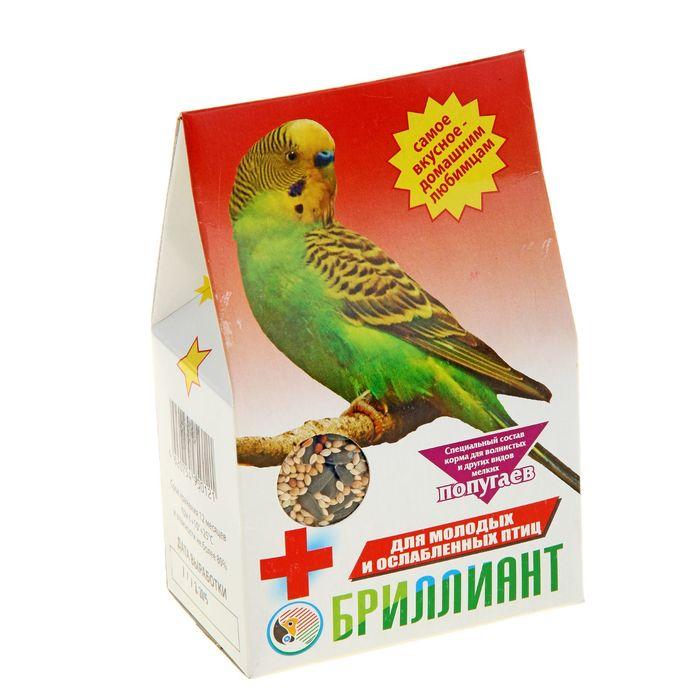 Корм Бриллиант для молодых и ослабленных попугаев, 400 г