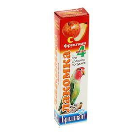 Лакомка 'Бриллиант' для средних попугаев, фрукты, 4 шт, 80 г Ош