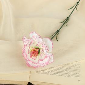 Цветок искусственный 'Бело-розовая гвоздика' Ош