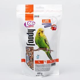 Корм фруктовый LoLo Pets для волнистых попугаев, дойпак, 600 г.