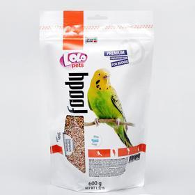 Корм полнорационный LoLo Pets для волнистых попугаев, дойпак, 600 г.