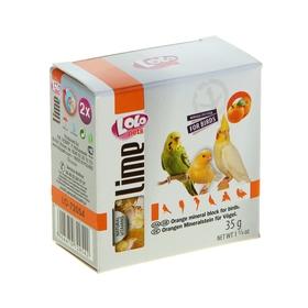 Минеральный камень для птиц LoLo Pets  с апельcином 35 гр