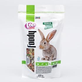 Корм для кроликов LoLo Pets полнорационный, дойпак 600 г