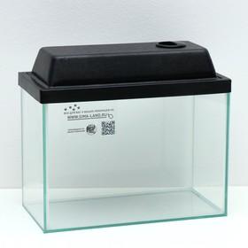 Аквариум прямоугольный с крышкой, 15 литров, 34 x 17 x 25/27,5 см, чёрный