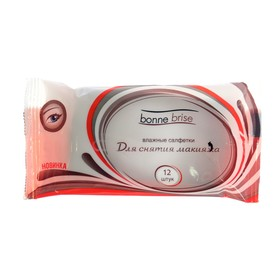 Влажные салфетки «Bonne Brisei» для снятия макияжа mini, 12 шт