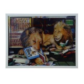 Картина объёмная 3D 'Львы читают' Ош