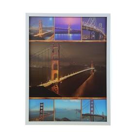 Картина объёмная 3D коллаж 'Мосты' Ош