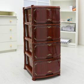 Комод 4-х секционный «Декор. Дерево», цвет коричневый
