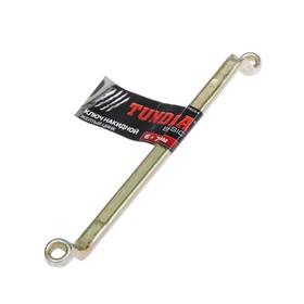 Ключ накидной коленчатый TUNDRA, желтый цинк, 6 х 7 мм