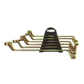 Набор ключей накидных коленчатых в холдере TUNDRA, желтый цинк, 8 - 19 мм, 6 шт.