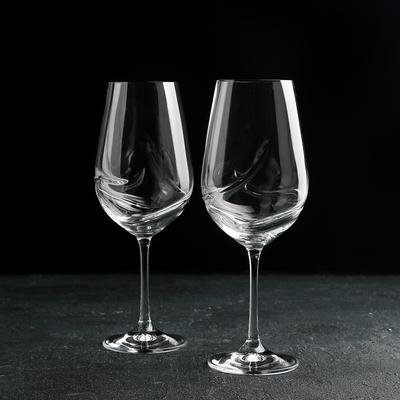 Набор бокалов для вина Bohemia Crystal «Турбуленция», 550 мл, 2 шт - Фото 1