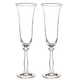 Набор фужеров для шампанского Bohemia Crystal «Свадебный», 190 мл, 2 шт