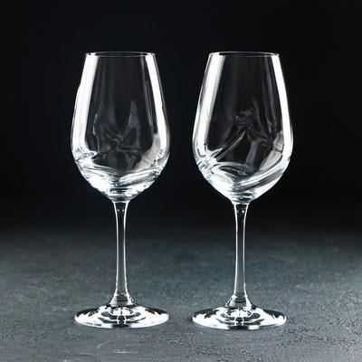 Набор бокалов для вина Bohemia Crystal «Турбуленция», 350 мл, 2 шт - Фото 1