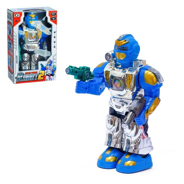 """Робот """"Космический герой"""", работает от батареек, световые и звуковые эффекты"""