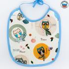 Нагрудник из клеёнки с ПВХ-покрытием, на завязках, цвета МИКС