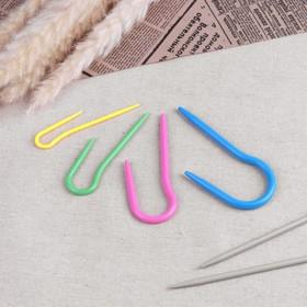 Набор вспомогательных спиц для вязания, 4 шт, d = 0,3/0,4/0,5/0,6 см, цвет МИКС Ош
