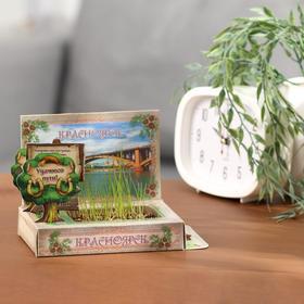 Растущая травка в открытке «Красноярск» Ош