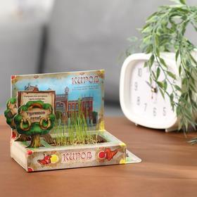 Растущая травка в открытке «Киров» Ош